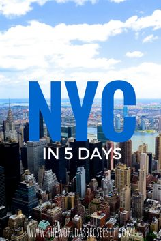 A 5-day Itinerary covering all the major sights and attractions NYC has to offer! Perfect for first time visitors! #newyork #nyc #itinerary