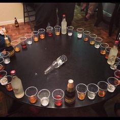 Adult version of spin the bottle. Adult version of spin the bottle. The post Can drinking get any better? Adult version of spin the bottle. appeared first on Lynne Seawell& World. 21 Party, Party Time, Drunk Party, Neon Party, Drinking Games For Parties, Adult Party Games, Adult Games, Party Games For Adults, Halloween Drinking Games