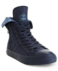 Levi's Hi-Top sneakers let him zip up and head out