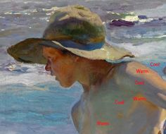 Color Temperature on a Sorolla painting