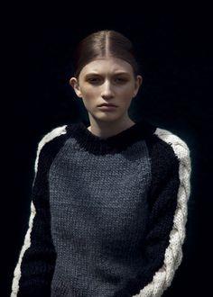knit Grandeur: Cabled Colour Block Intarsia