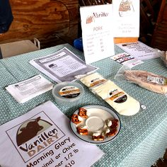 Delicious fresh cheese for dipping or spreading.  You can sample it at the market and take home your favorite.  Perfect for parties!