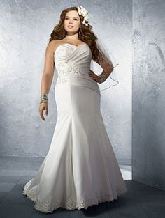 wedding dress for plus size women