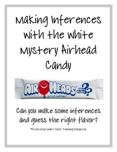 A great packet to use when working on making inferences with students.  The packet contains the following:What is an Inference