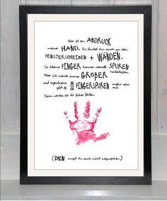 - jetzt auch *personalisierbar* -  Erinnerungen bewahren - ein Print mit *Erinnerung*swert auf schönem Papier; (OHNE Handabdruck), nicht nur zum *Muttertag* oder *Vatertag* eine kreative...                                                                                                                                                                                 Mehr