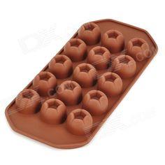 Forma para 15 Chocolates de Xícara  Floral em Silicone  Criativo GEL061104 – Café