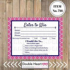 Enter To Win Sign Raffle Ticket Drawing Slip Door