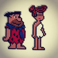 Fred and Vilma - The Flintstones hama beads by bianca11483