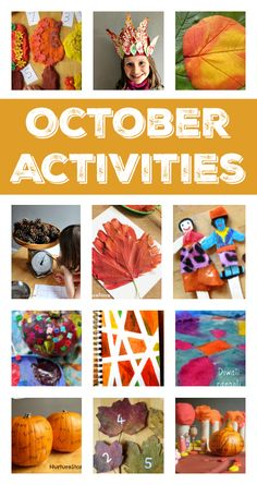 October activity plans :: fall crafts and activities :: things to do with kids in October :: seasonal activity calendar :: fall homeschool plans