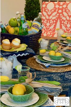 If you only own two sets of dishes, pick white and green. So many possibilities!