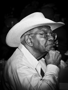 """Wisdom"" photo by Marcus Williams - Elderly black cowboy in Louisiana Black Cowboys, Real Cowboys, Cowboys And Indians, Cowboy Girl, Cowboy Up, African American Culture, Black African American, Cowboy History, Cow Boys"
