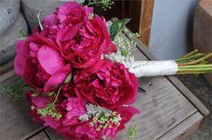 Wedding Flowers by Dusty Miller Designs - hot pink peony wedding bouquet