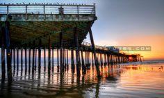 Sunset at Pismo Beach pier by Amy Joseph of www.centralcoastpictures.com Pismo Beach Pier, San Luis Obispo County, Central Coast, Where The Heart Is, Beach Pictures, Sky, Sunset, Places, California Usa
