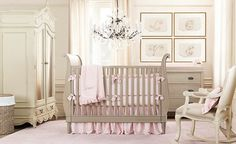 21 Striking Ideas for Your Baby Room Themes: Cream Pink Girls Nursery