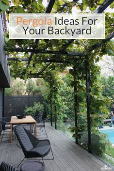 Top Backyard Pergola Ideas For Your Garden [Metal Pergola Ideas, Exterior Design, Outdoor Living Space, Wicker Furniture, Outdoor Dining Area, Patio Ideas, Backyard Landscape Ideas, Pergola Ideas]