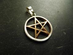 Anhänger, Pentagramm, Symbol, Sterlingsilber, vergoldet, Talismann, Schutz, Wicca, Schamane von WaltrautvonRoda auf Etsy