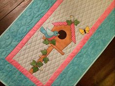 Name: 'Quilting : Birdhouse Table Runner House Quilt Patterns, House Quilts, Craft Patterns, Scrap Fabric Projects, Quilting Projects, Quilting Designs, Quilting Tips, Fabric Scraps, Table Runner And Placemats