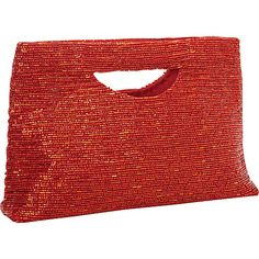 Moyna Handbags Small Rectangle Clutch M.Red - Moyna Handbags Fabric Handbags