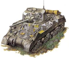 M4 Sherman в разрезе.