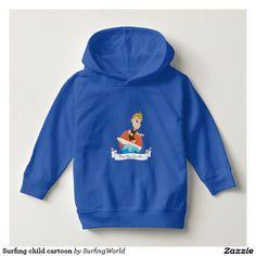 Surfing child cartoon t-shirts