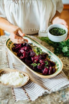 beets with chimichurri sauce