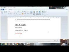 initiation traitement de textes wordpad - YouTube
