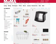 MoMa Store e-commerce site
