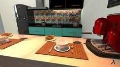 Destined to show my interiors projects. Destinado para mostrar meus projetos de interiores.  #retro #kitchen #modernism #cozinha