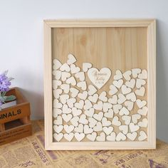Vintage Wedding Guest Book Alternative Personalized Bride and Groom and Wedding Date Heart Guest Book Drop Box Frame Guestbook Sign: Amazon.ca: Home & Kitchen