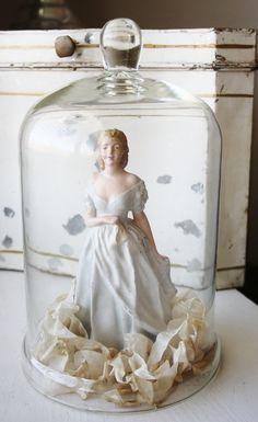 Shabby Chippy White Chalk Ware Bride Lady by TheFarmhousePorch, $28.00