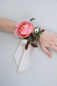 romantic garden rose wrist corsage, not for prom!