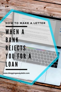 Sample Letter When A Bank Rejects You for a Loan How To Make Letters, Debt Free, Saving Money, Blogging, Lettering, Save My Money, Drawing Letters, Money Savers, Frugal