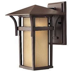 The Hinkley Lighting Harbor Outdoor Wall Sconce No. 2570 is offered in a variety of finish options. Its Mission-inspired design, with low horizontal lines and muted tones, is an ideal option for many of today