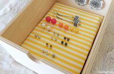 how to organize earings