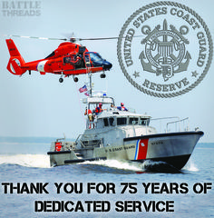 2/19/16 - Today marks the 75th anniversary of the US Coast Guard Reserves! Thank you for protecting our waterways and always being there when you are needed the most! www.battle-threads.com