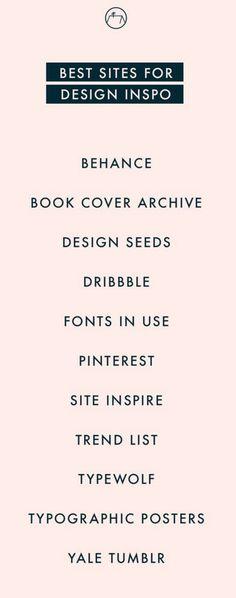 Best sites for design inspiration. Get inspired by graphic design. #design #website #websites #inspiration
