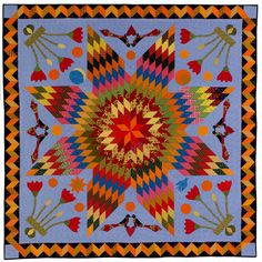 """Pennsylvania Star of ""Bethlehem"" quilt by Mickey Beebe, from the special exhibit ""In the American Tradition 2015.""   2015 Houston IQF. Photo: ALAN PORTER, Quilts Inc."
