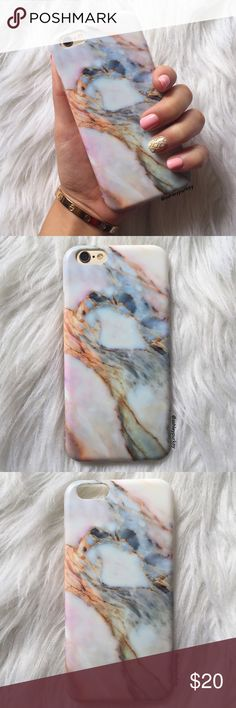 """❤️SALE❤️ pink skies marble iPhone 6  7 - Plus case •sizes:  iPhone 7 (4.7"""") iPhone 6 Plus (5.5"""") iPhone 7 Plus (5.5"""")  •flexible silicone  •phone not included   •no trades    *please make sure you purchase the correct size case. i am not responsible if you purchase the wrong size  item #: 48 B-Long Boutique  Accessories Phone Cases"""