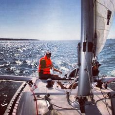 Enjoying the day sailing. Sun on your neck, ocean spray in your face, complete harmony. www.corsairmarine.com #corsair #corsairmarine #sail #sailing #catamarans #cats #trimarans #ocean #nautical