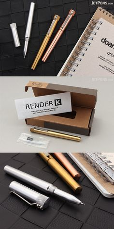 Give your favorite gel or ballpoint refill a shiny new home in this unique, high-quality metal pen body, designed and machined by Karas Kustoms right here in the USA. Stationery Companies, Jet Pens, Metal Pen, Planner Supplies, Going Back To School, Writing Instruments, Kara, School Supplies, Pen Pals