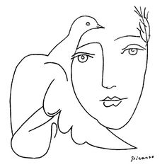 picasso Dav, Giant of Peace. — Pablo Picasso's Line drawings Kunst Picasso, Art Picasso, Picasso Sketches, Picasso Tattoo, Pablo Picasso Drawings, Art And Illustration, Art Design, Painting & Drawing, Painting Lessons
