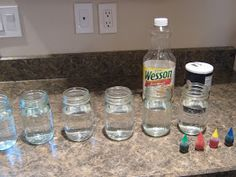 """Our Science Sunday  experiment (or Science Monday, if you want to get technical), started out as a quick Family Fun inspired , rainbow of """"l..."""