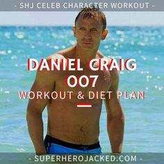 Daniel Craig Workout Routine and Diet: How to train like James Bond – Superhero Jacked Dip Workout, Push Up Workout, Workout Diet Plan, Workout Routine For Men, Gym Workouts, Workout Plans, Daniel Craig Workout, Daniel Craig James Bond, Celebrity Workout