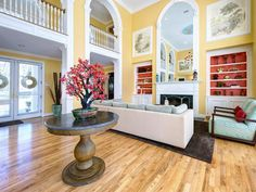 Turquois, yellow, and red Eclectic Living-rooms from S Interiors on HGTV