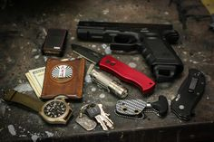 Everyday Carry Submitted By: Depotmsafilms Glock 17 with magpul magazine baseplate - Purchase on Amazon  Zippo Pinstripe with Zippo belt carrier - Shop on Amazon Saddle Leather card holder USN Bushido Challenge Coin  Fossil Watch - Shop on Amazon Eagletac CR123 Titanium 500 lumen flashlight - Purchase on Amazon Keys with titanium dog tag made by (eric garza ) on the usn network  Cold Steel Urban Pal Neck Knife with custom sheath by (studey) on the USN network  Zero Tolerance 0350 - Purchase…