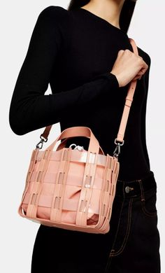 This GALA TPU pink weave grab bag is the modern must-have to accessorize your look. Beautiful Handbags, Grab Bags, Medium Bags, My Bags, Leather Satchel, Women's Accessories, Bucket Bag, Shopping Bag, Asos