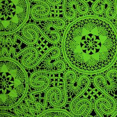 Lime Green Lace fabric by whimzwhirled on Spoonflower - custom fabric