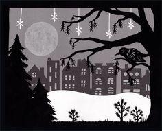 Winter Row - Cut Paper Art