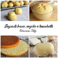 Impasti Base, regolare e trucchetti Sweets Recipes, My Recipes, Desserts, My Favorite Food, Favorite Recipes, Torte Cake, Homemade Cakes, Creative Food, Cooking Time