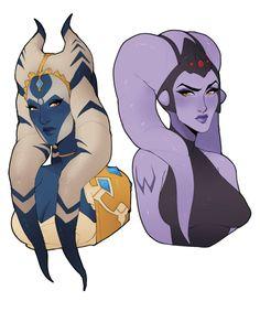 Star Wars AU - Symmetra and Widowmaker by Milkcubus.deviantart.com on @DeviantArt